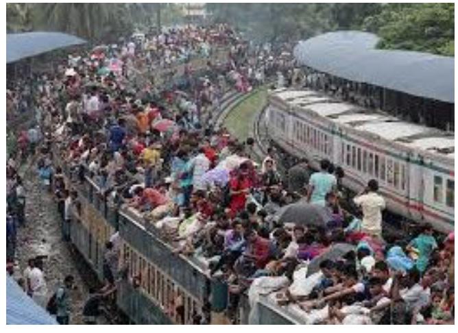 人口爆発が起こっているバングラデシュ