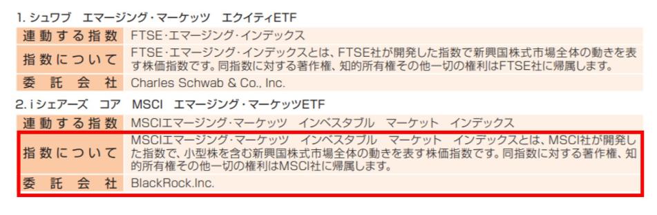 iシェアーズ・コア・MSCIエマージング・マーケッツETF